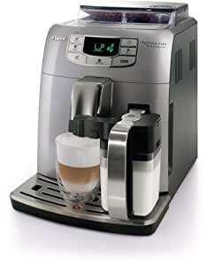 Saeco HD8753/95 Intelia Evo One Touch Cappucino Kaffeevollautomat (Milchbehälter, 15 bar) silber