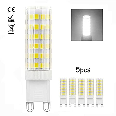1819®5X G9 Ampoule LED 5W Ampoule Lampe 76 SMD 2835LED Blanc Chaud 3000K/Blanc Froid 6000K 450LM Super Lumineux LED Bulb AC 115V/127V/220V (5W Blanc Froid)