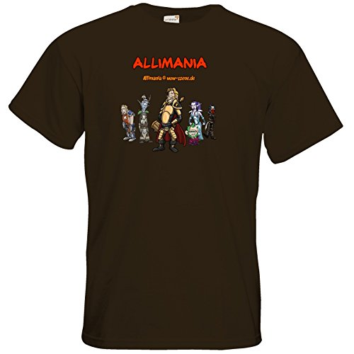 getshirts - Stevinho & Allimania - T-Shirt - Allimania Classic - Ronny Chocolate