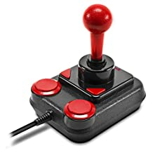 Speedlink COMPETITION PRO Extra USB Joystick - Anniversary Edition - retro arcade stick - voor pc's en Android-apparaten - zwart-rood