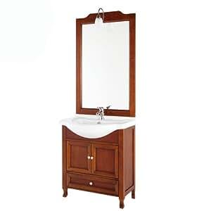 Mobile bagno in legno massello - Arte povera - LAVABO INCLUSO - art. 129002-B