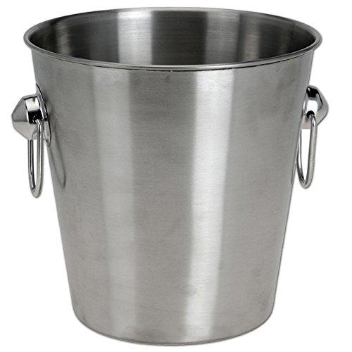 JEMIDI Sektkühler & Champagnerschale Edelstahl Sektschal Kühlkübel Weinkühler Sekt Schal Sektkübel Champus Sektkühler