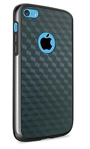 vau Bumper Cuboid - black - TPU Silikon-Case, Tasche für Apple iPhone 5C