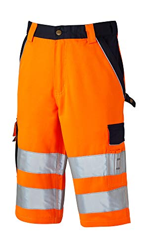 Dickies Mens Industry Polycotton Two Tone Hi Vis Reflective Shorts -