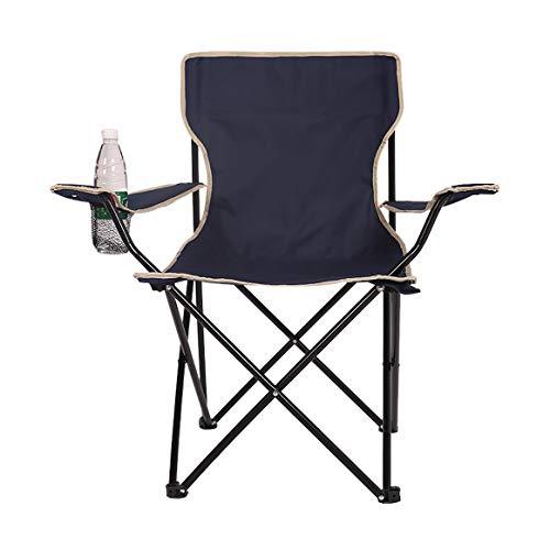 BFQY FH Chaise Pliante Extérieure, Accoudoir Multifonctionnel, Chaise De Pêche, Chaise De Plage Décontractée pour Barbecue, Trois Couleurs en Option (44 × 44 × 80 Cm) (Couleur : Marine)
