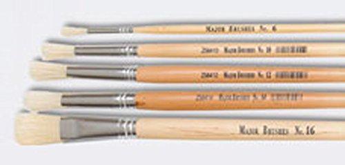 Flacher Borstenpinsel mit langem Griff von SG Education, CR 579116, Nr. 16