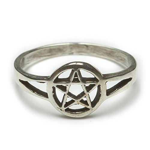 Pentagramm Ring Silberring 925 Silber Schmuck Damenring Kindering Hexenstern