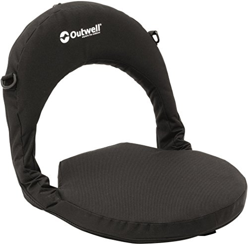 Outwell Poelo Deluxe Tragbarer Strand-Stuhl, Midnight Black, 40 x 40 x 38 cm - Deluxe Sitzsack