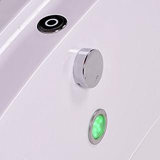 AQUADE Edelstahl Farblicht LED Unterwasser LED Badewanne Lichttherapie für BAD LED-Set Erweiterungsfähig