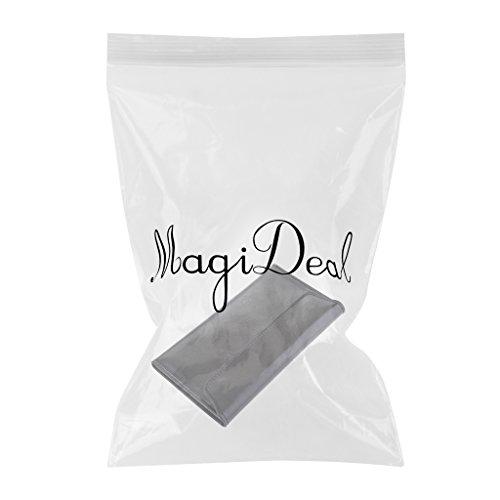 MagiDeal 1pz Portafoglio Unisex Lunga Multifunzione Borsa Di Cuoio Artificiale - Nero Nero
