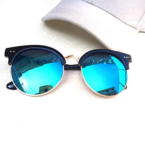 GJYANJING Sonnenbrille Klassische FrauenMänner Sonnenbrille Uv400 Spiegel Dame Ligh Sonnenbrille Männlich Weiblich L Kleine Größe