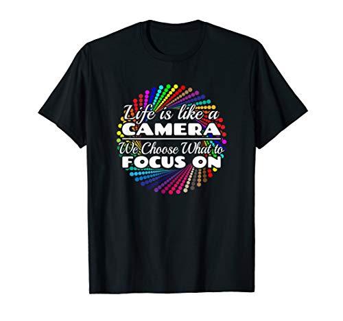 Fotografie Das Leben ist wie eine Kamera T-Shirt