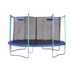 HUDORA Trampolin Fitness, blau – Garten-Trampolin mit Sicherheitsnetz