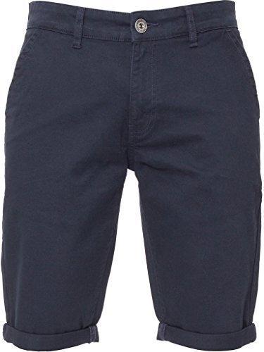 Enzo Herren enge Passform Stretch Baumwolle Chino Sommer Shorts schwarz blau rot grau, neu mit Etikett Marine