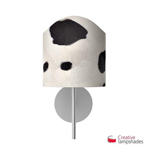 Paralume ventola sagomata per applique a muro rivestimento Mucca Bianco - 2pz Diam. 16cm - H. 16cm, E14 Per Base