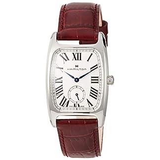 Hamilton Boulton L H13421811 – Reloj de Pulsera para Mujer, Esfera de Color Plateado y Blanco