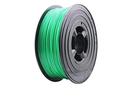3D Filament 1kg B-Ware Filament Rolle in verschiedenen Farben Rot Gold Silber Grün Blau Braun Lila Violett Beige Transparent Gelb Orange Schwarz Weiß (Grün (B-Ware))