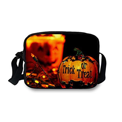 Lomelomme Halloween Taschen Lustig Frauen und Männer Einzelne Umhängetaschen Erwachsener Kürbis Kuriertaschen Unisex Umhängetasche Hüfttasche Freizeittasche Schultasche -