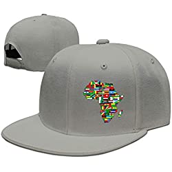 yiyuanyuantu Africa Flags Unisex Snapback Adjustable Flat Bill Baseball Cap
