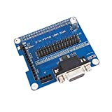 Detectoy Tarjeta de expansión GPIO Serial Port para Raspberry Pi 3B 2B B + con un Puerto Serial Serie RS232 Indicación de alimentación LED