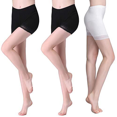 Vinconie Legging Shorts Panty Unter Rock Boxershorts Yogahose Kurze Hose Knielange