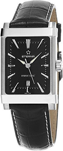 Eterna 1935 Eterna-Matic Women's Black Leather Strap Swiss Automatic Watch 8491.41.41.1117D