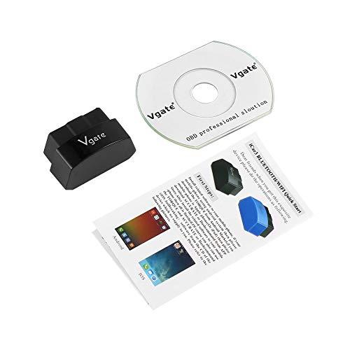 Preisvergleich Produktbild KNOSSOS Vgate ICAR3 ELM327 Bluetooth OBDIII Professional Solution for Android Phone - Black