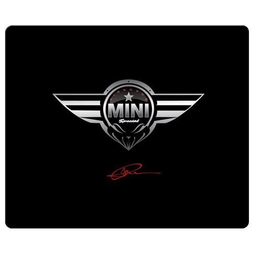 26x21cm / 10x8inch gaming mousepad smooth cloth Environmental rubber latest high technology mouse movement mini cooper car logo super