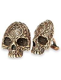 Day Of The Dead Sugar Skull Cufflinks - Sugar Skull Cufflinks In Solid Bronze Or Sterling Silver White Bronze...