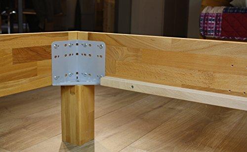 Bett PALMA, Größe 100x200, Buche Massivholz, von MeinMassivholz - Made in Germany, Kostenlose Lieferung zum Wunschtermin - 6