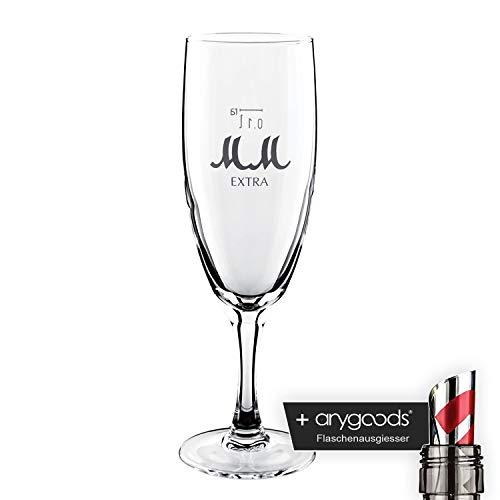 Mumm Champagne verre/verres très inoxydable Gastro Bar Décoration + bouteille Bec verseur