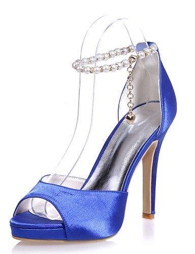 ShangYi Chaussures Femme - Mariage / Soirée & Evénement - Noir / Bleu / Rouge / Ivoire / Blanc / Argent - Talon Aiguille - Bout Ouvert - Sandales Ivory