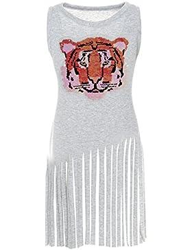 BEZLIT - Vestido - Túnica - Básico - Cuello redondo - Sin mangas - para niña