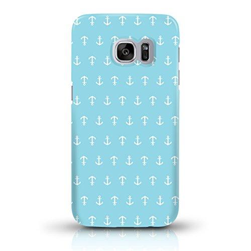 """JUNIWORDS Handyhüllen Slim Case für Samsung Galaxy S7 - Motiv wählbar - """"Anker Design 1 Dunkelblau"""" - Handyhülle, Handycase, Handyschale, Schutzhülle für Ihr Smartphone Anker Design 1 Hellblau"""
