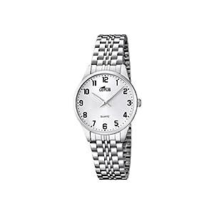 Lotus 15884/1 – Reloj de Cuarzo para Mujer, con Correa de Acero Inoxidable, Color Plateado
