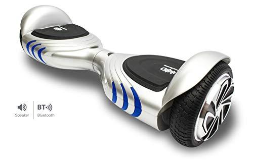 Intense Devices Patinete Eléctrico Hoverboard Silver ID Q2 - Certificado UL2272, Ruedas...