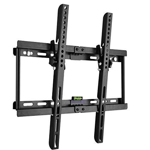 BPS- Soporte de pared para TV Televisor 32-55 pulgadas de pantalla plana(LED LCD Plasma), inclinable Soporte para LG Sony Philips Sumsung etc,Máx Vesa 400x400, color Negro