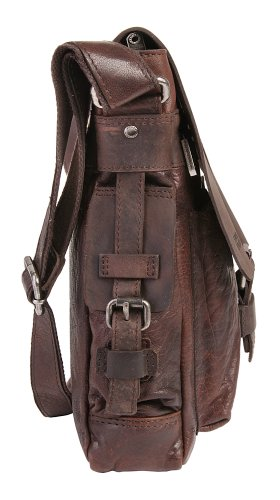 Spikes & Sparrow Bronco Belt Sac bandoulière cuir 26,5 cm espresso