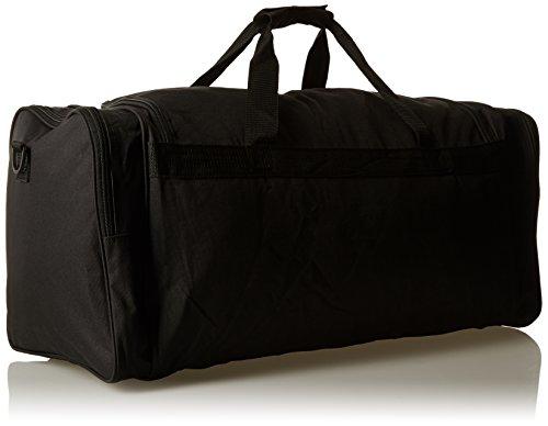 Borsoni Large Extra Large Size - Week-end o molto grande Overnight Bag - Ideale Viaggi Borsone - Plain Nero Duffle Borse - tasche multiple - 65 litri Capacità 1kg - Misure 66 x 31 x 31 centimetri - RL Nero