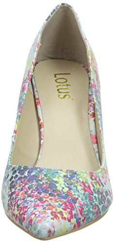 Lotus Damen Buckwell Pumps Blue (blue Print)