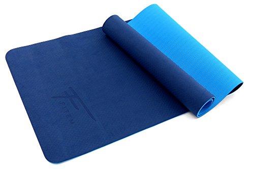 Tapis de Gym / Yoga Fitem Eco Natura TPE 175 x 61 x 0,6 cm - Reversible - Anti-Dérapant - Amortissant, Eco-Conscience & Hygiènique- pour Yoga, Gym, Sport, Gymnastique, Fitness, Pilates, Musculation