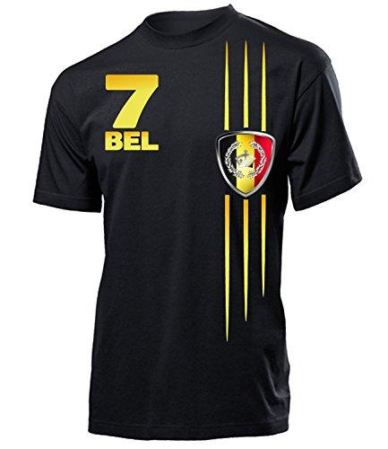 Golebros Belgien Fanshirt Streifen 3314 Herren T-Shirt (H-SW) Gr. S