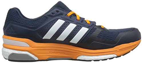 adidas Supernova Sequence Boost 8 Laufschuhe, Chaussures de Running Homme Multicolore (Collegiate Navy Blau/Weiß/EQT Orange)