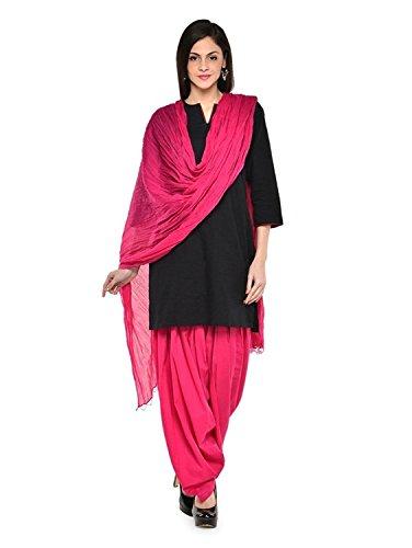 Pink Full Punjabi Patiala 100% Cotton Bottom Salwar with Dupatta for Kurta Top Free Size Pant