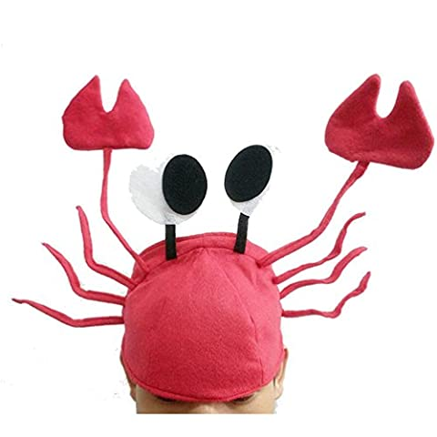 Transer® New Fashion Cotton Blend Christmas Hats Funny Cute Red Crab Hat Party Costume Free Size Gifts Christmas