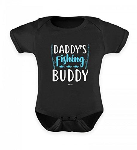 Hochwertiges Baby Body - Daddy's Fishing Buddy - Angel Shirt für Kinder Kind Sohn Tochter Angeln Angler Geschenk