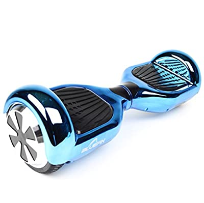 "Bluefin 6.5"" Classic Swegway Hoverboard with Built-in Bluetooth Speakers and Carry Bag, Chrome Blue, 6.5-inch"