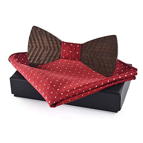 Kostüm Bow Tie - YAOSHI-Bow tie/tie Krawatten und Fliegen für Hölzerne Fliege Kostüm Herren Anzug Krawatte Taschentuch Business Butterfly Anzug Krawatte Krawatten und Fliegen für (Farbe : Rot, Größe : 5 * 9.5cm)