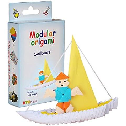 Modular Origami crfq0_ 84132pieza Velero Origami–Kits, transparente, 16x 9x 3cm