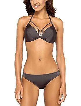 Lorin L2125/7 completo bikini due pezzi liscio monocolorato coppe profilate - fabbricato in UE